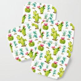 Green Cactus Watercolor Coaster