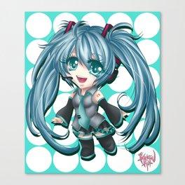 Chibi Hatsune Miku Canvas Print