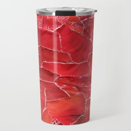 Red Ombre Collage Travel Mug