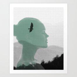 Femme sereine Art Print
