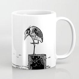 B&W Heron Coffee Mug