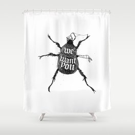 We want you Shower Curtain
