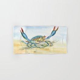 Colorful Blue Crab Hand & Bath Towel