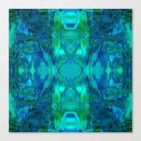 stained glass Canvas Prints featuring Stained-glass.  by Assiyam