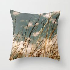 Golden Wheat Throw Pillow