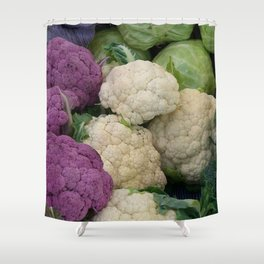 Farmer's market vegetable stand  Shower Curtain