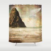 interstellar Shower Curtains featuring Interstellar by Jenndalyn