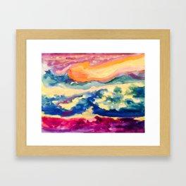 My Starry Watercolor Night Framed Art Print