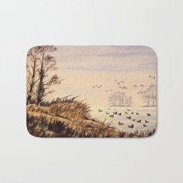 Duck Hunting Times Bath Mat