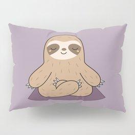 Kawaii Cute Yoga Sloth Pillow Sham