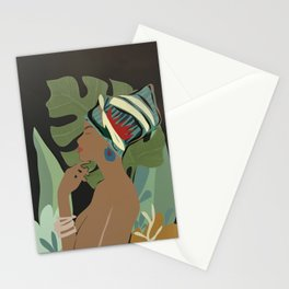 Woman with a Tuban Stationery Cards
