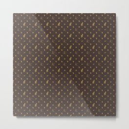 Louis Catfluff Luxury Cat Pattern Metal Print