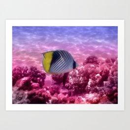 The Cute Threadfin Butterflyfish Art Print