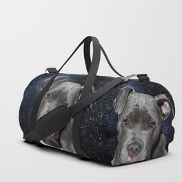 Pitbull Terrier and Moon Duffle Bag