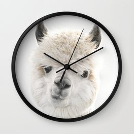 PEEKY ALPACA Wall Clock