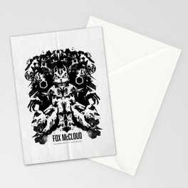 Fox McCloud Star Fox Inspired Geek Psychological Inkblot Stationery Cards