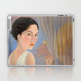 Lady and a Bird of Paradise Laptop & iPad Skin