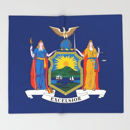 New York State Flag Throw Blanket