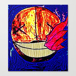 The Moon Is Sick Canvas Print