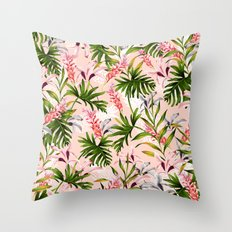 Tropical nature pattern Throw Pillow
