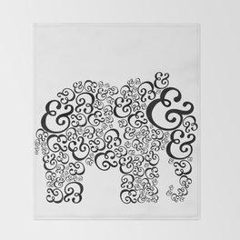 Ampersand Elephant Throw Blanket