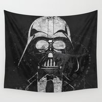 gentleman Wall Tapestries featuring Darth Vader Gentleman by Sitchko Igor