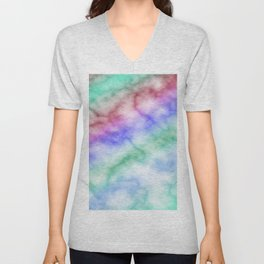 Rainbow marble texture 6 Unisex V-Neck