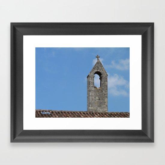 Saint Emilion rooftop Framed Art Print