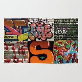 grafitti collage Rug