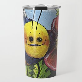The Bee and the Poppy Travel Mug