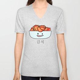 Happy Kimchi Kimchee Bowl Cabbage pickled spicy Korean Unisex V-Neck