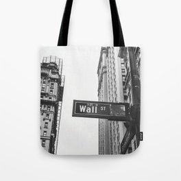 Wall street bw Tote Bag