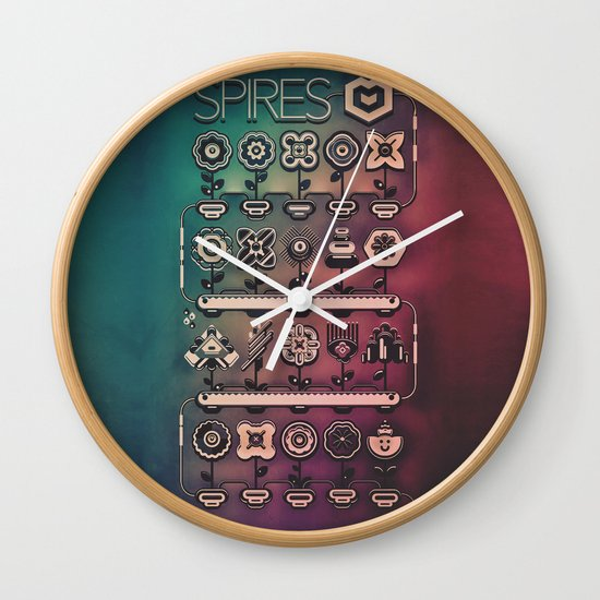SPIRES IRRIGATION (2014) Wall Clock