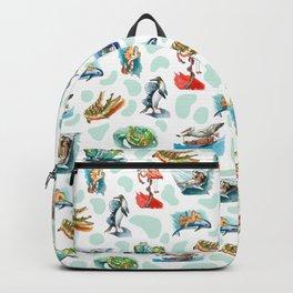 Sea Animal Aqua Party Backpack