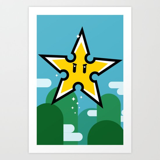 Ninja Star Power Art Print