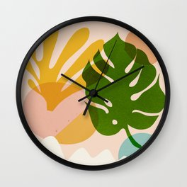 Abstraction_Floral_02 Wall Clock