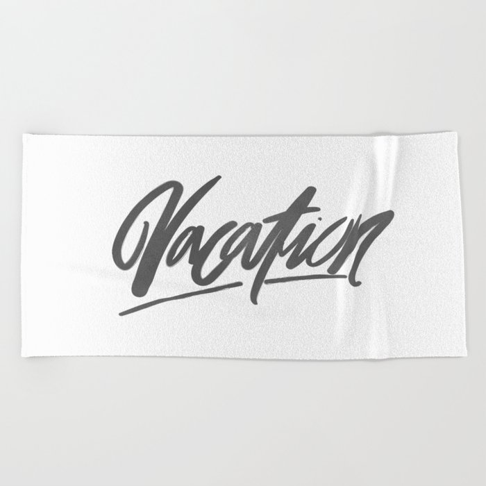 Vacation Brushlettering Beach Towel