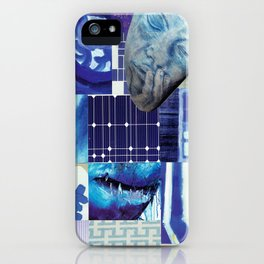 Collage - Just Blue iPhone Case