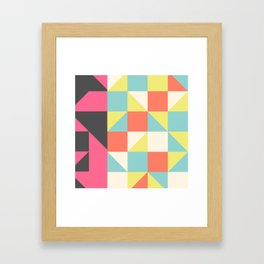 Abstract Aztec Pattern Framed Art Print