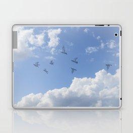 Window Curtains - Flying Away Laptop & iPad Skin