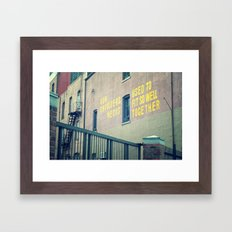 Now you're just somebody that I used to know... Framed Art Print
