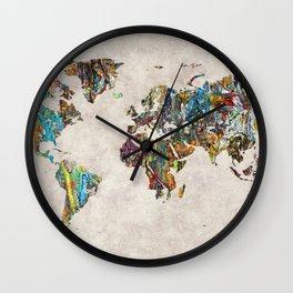 World Map 28 Wall Clock