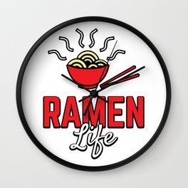 Ramen Life College Student Tasty Anime Noodle Bowl Wall Clock