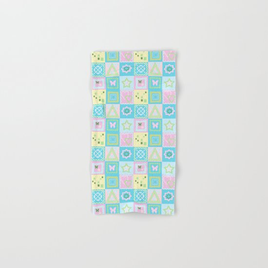 Delicate shades of baby pattern. Hand & Bath Towel