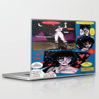 hentai Laptop & iPad Skins featuring  Space Chick & Nympho: Vampire Warrior Party Girl Comix #1 -Nympho in Comic Page -'Nature Boy' by Tex Watt
