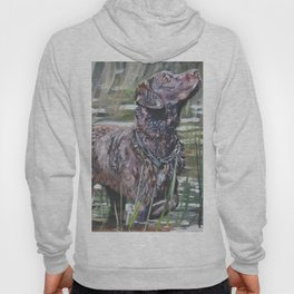 the Chesapeake Bay Retriever dog art from an original painting by L.A.Shepard Hoody