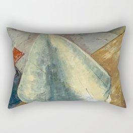 American Rocket Society Apollo Space Program Painting Motif No. 1 Rectangular Pillow