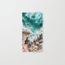 Aerial Ocean Print, Ocean Landscape, Beach Photography, Beach Print, Ocean Print, Ocean Water Hand & Bath Towel