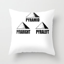 Nerdy pyramid pun flat joke funny gift Throw Pillow