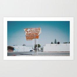 Abandoned Mexican restaurant sign Art Print